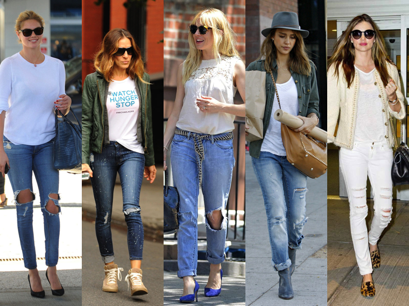 RIPPED JEANS CELEBRITY
