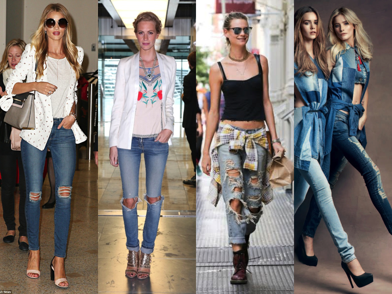 RIPPED JEANS CELEBS